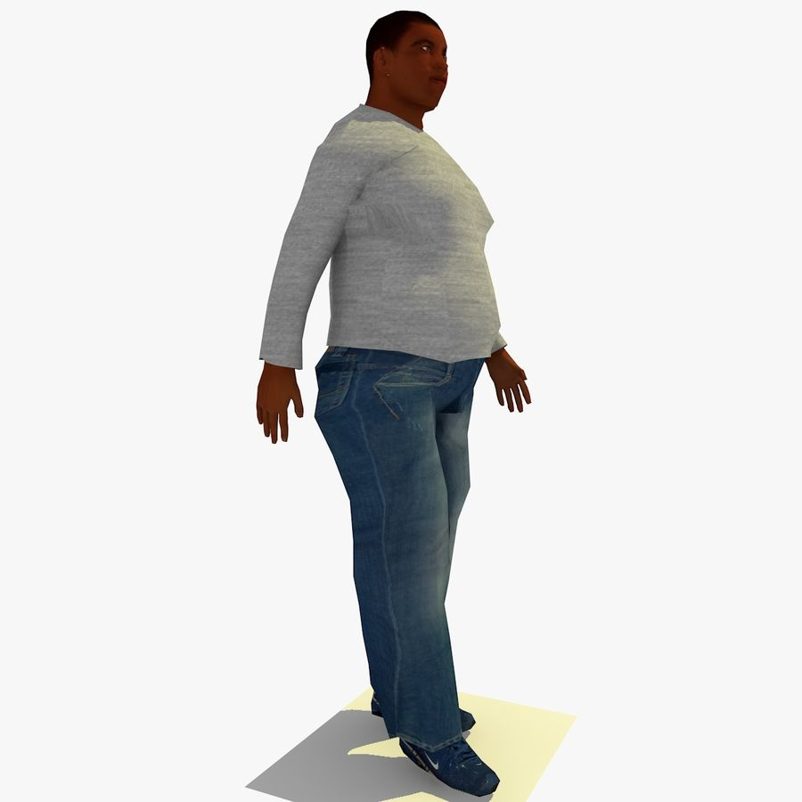 African African People Bundle royalty-free 3d model - Preview no. 80