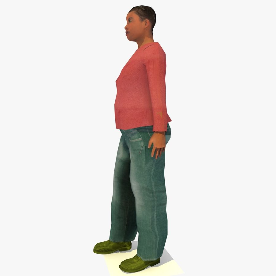 African African People Bundle royalty-free 3d model - Preview no. 88