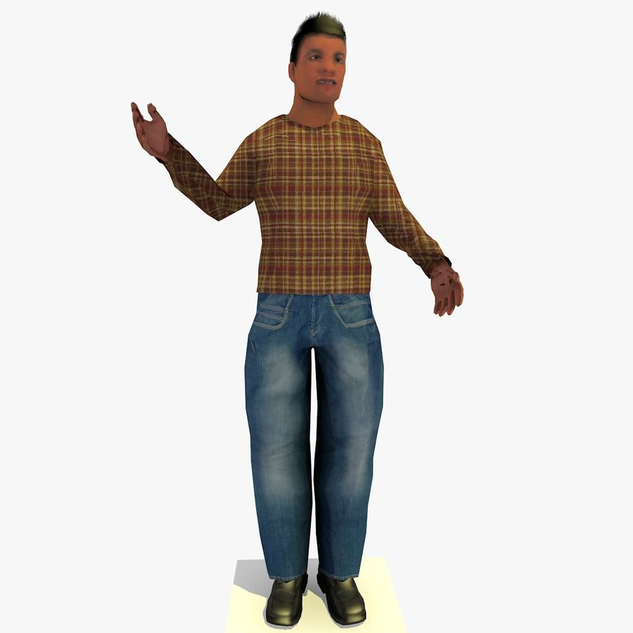 African African People Bundle royalty-free 3d model - Preview no. 8