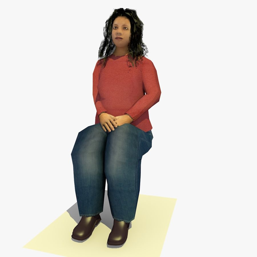 African African People Bundle royalty-free 3d model - Preview no. 50