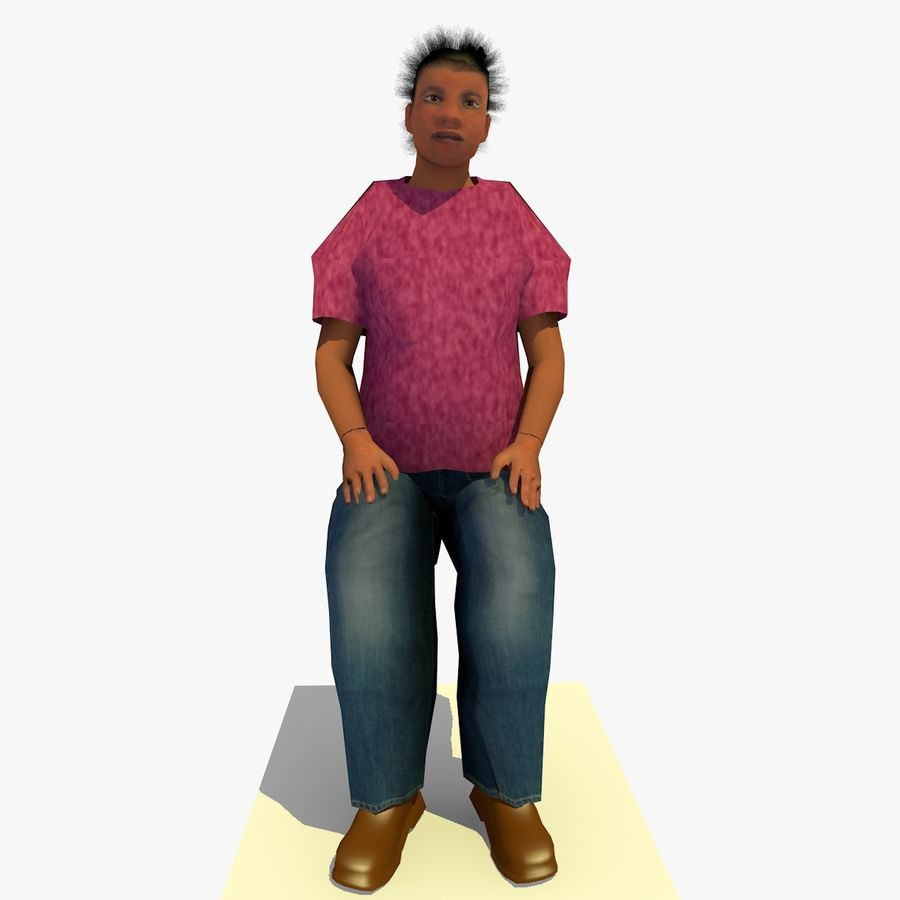 African African People Bundle royalty-free 3d model - Preview no. 56