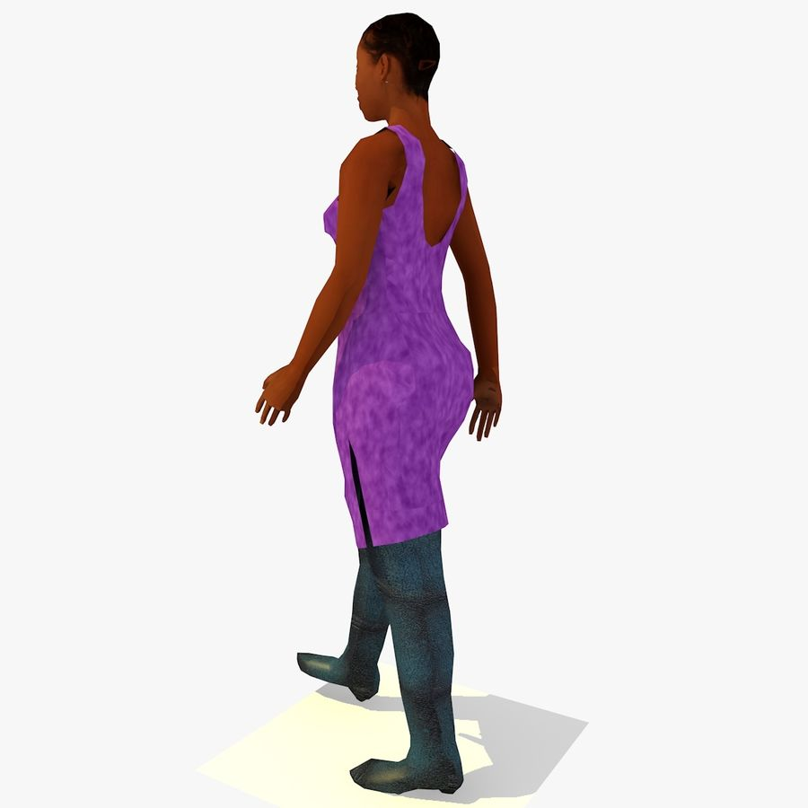 African African People Bundle royalty-free 3d model - Preview no. 49