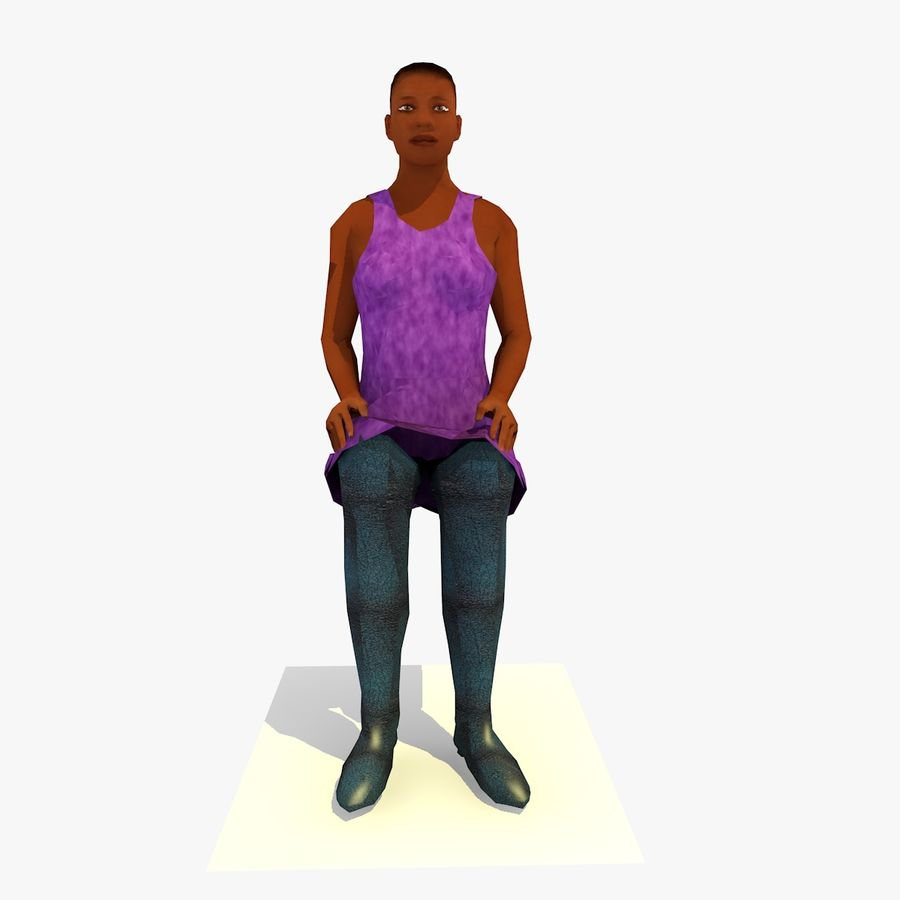 African African People Bundle royalty-free 3d model - Preview no. 41
