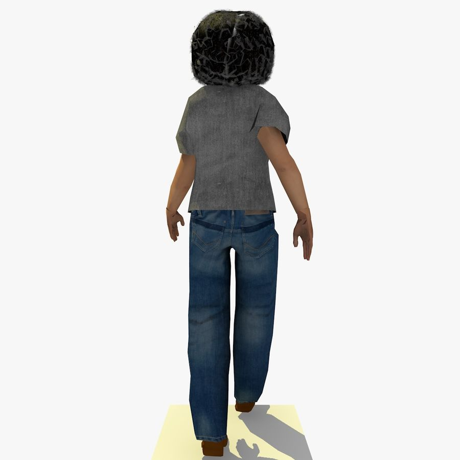 African African People Bundle royalty-free 3d model - Preview no. 30