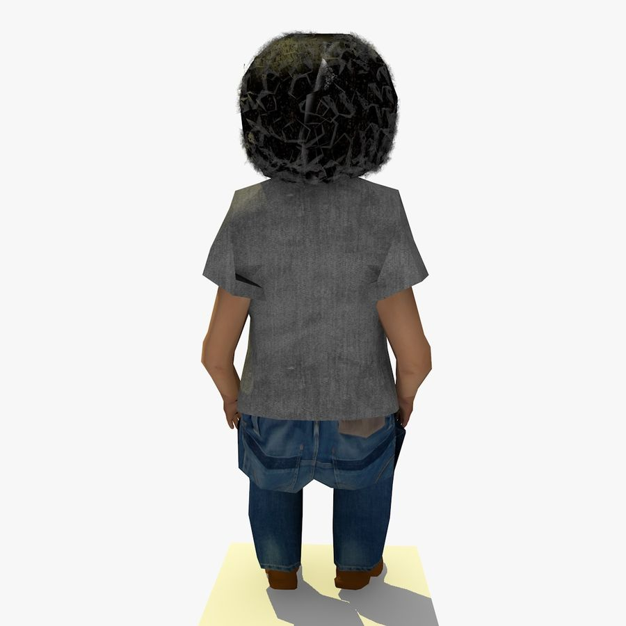 African African People Bundle royalty-free 3d model - Preview no. 24