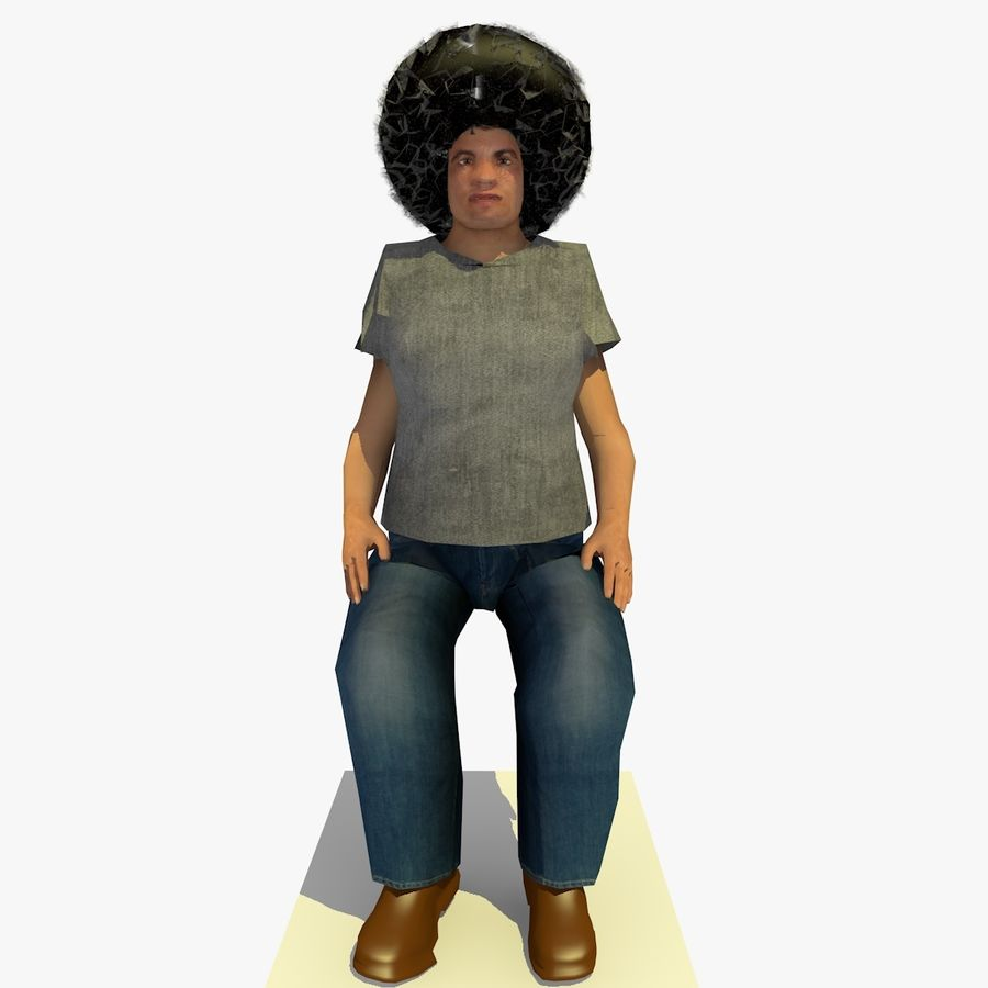 African African People Bundle royalty-free 3d model - Preview no. 23