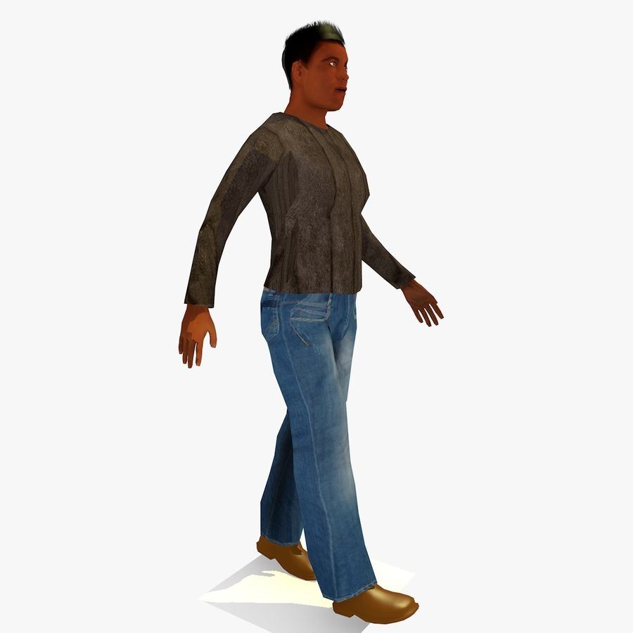 African African People Bundle royalty-free 3d model - Preview no. 20