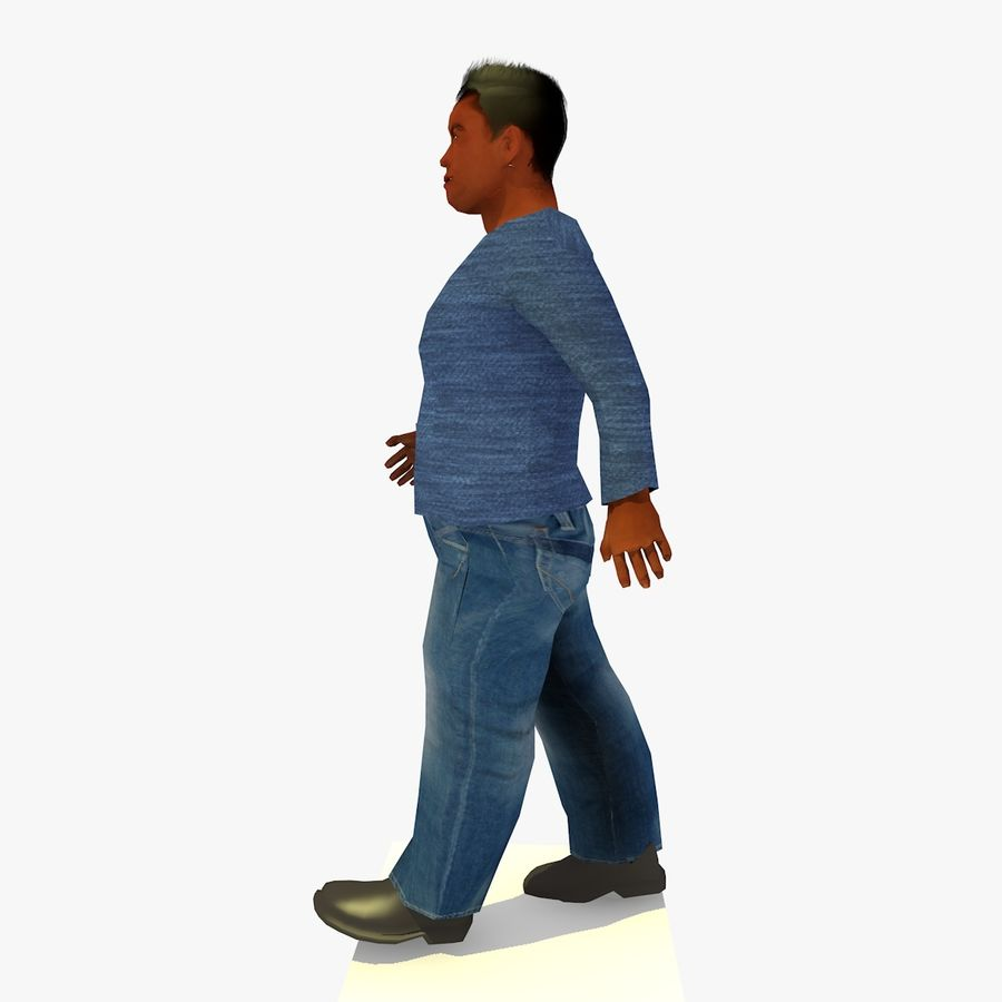 African African People Bundle royalty-free 3d model - Preview no. 40