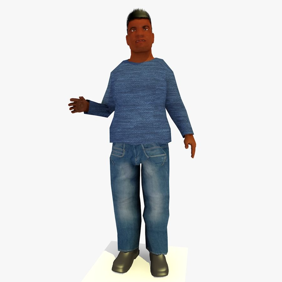African African People Bundle royalty-free 3d model - Preview no. 35