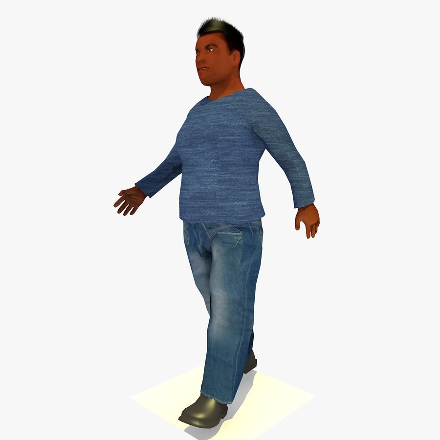 African African People Bundle royalty-free 3d model - Preview no. 38