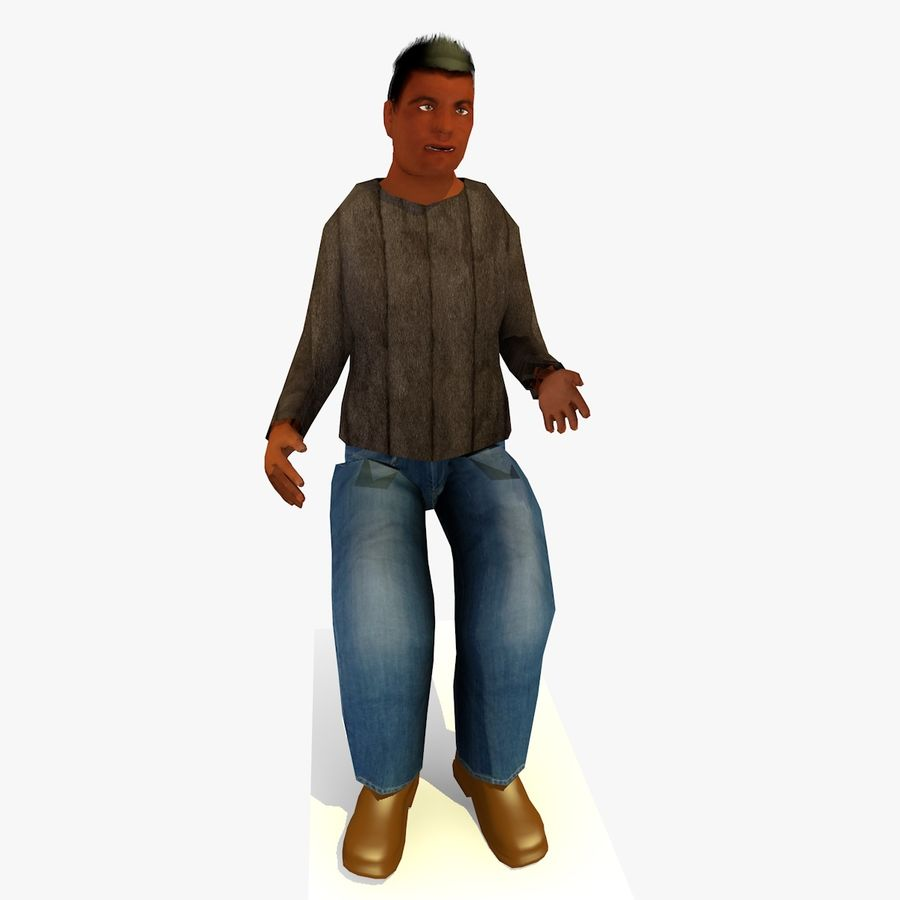 African African People Bundle royalty-free 3d model - Preview no. 14