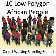 3D非洲人捆绑包 3d model
