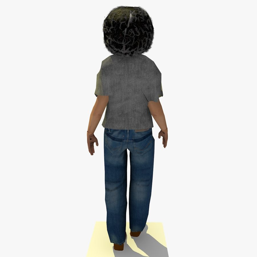 African African People Bundle royalty-free 3d model - Preview no. 27