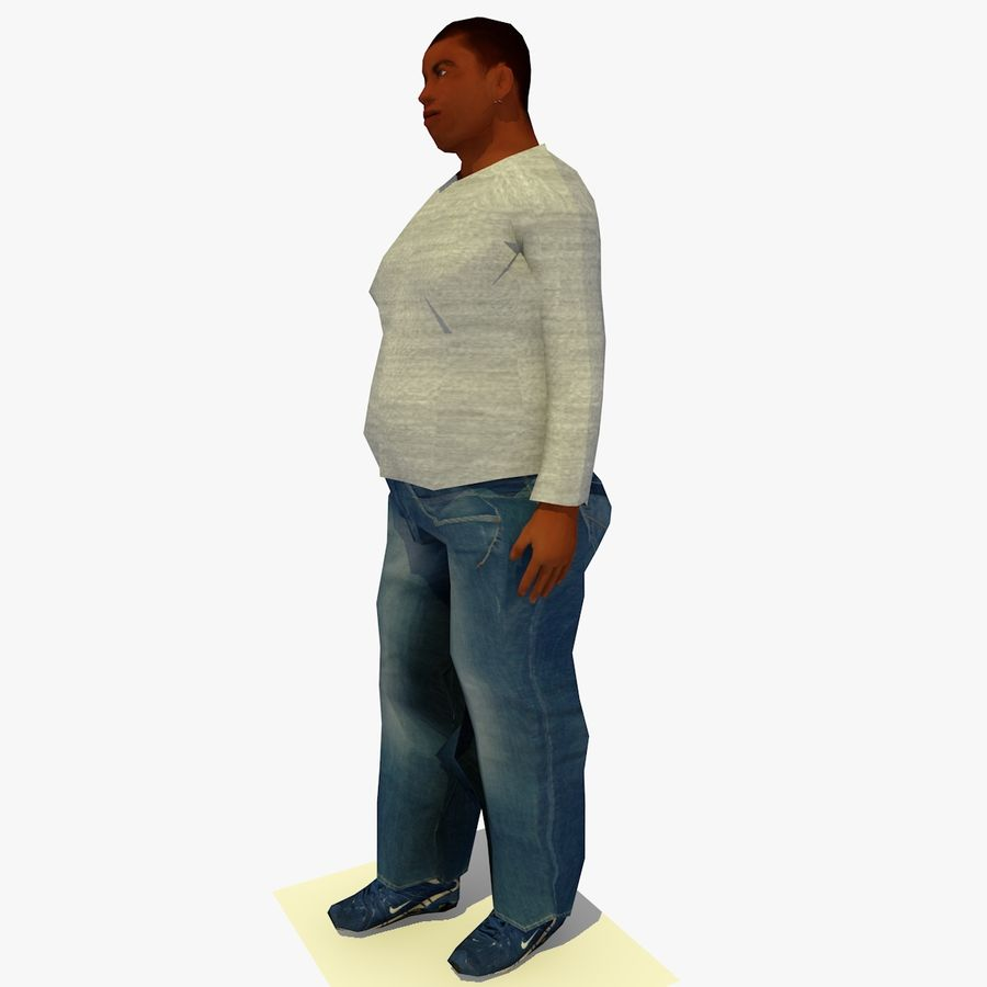 African African People Bundle royalty-free 3d model - Preview no. 79
