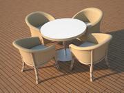 발코니와 의자 3d model