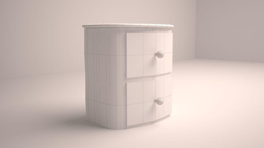 Mesita de noche de madera royalty-free modelo 3d - Preview no. 8