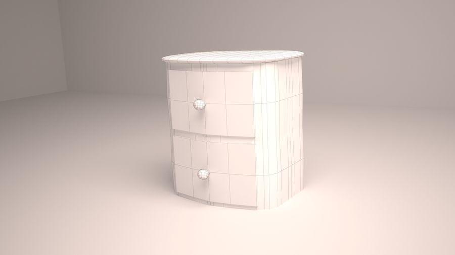 Mesita de noche de madera royalty-free modelo 3d - Preview no. 6