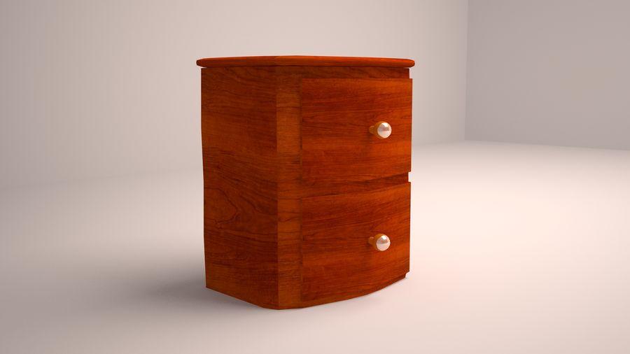 Mesita de noche de madera royalty-free modelo 3d - Preview no. 3