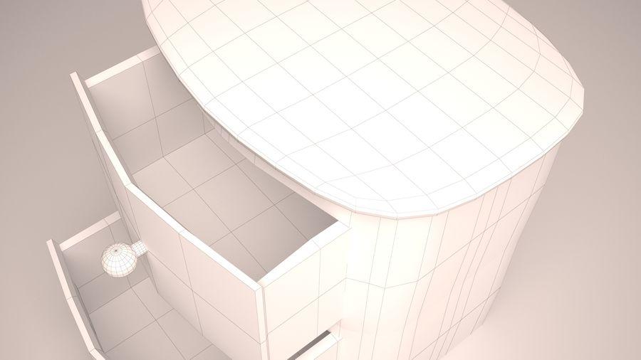 Houten nachtkastje royalty-free 3d model - Preview no. 10