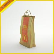 Бумажный пакет McDonalds 3d model