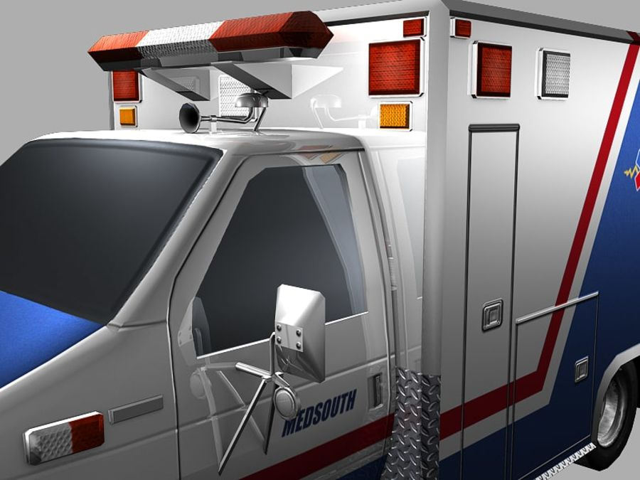 Ambulance royalty-free 3d model - Preview no. 7