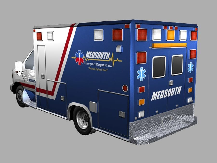 Ambulance royalty-free 3d model - Preview no. 3