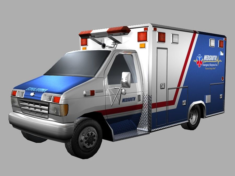 Ambulance royalty-free 3d model - Preview no. 1