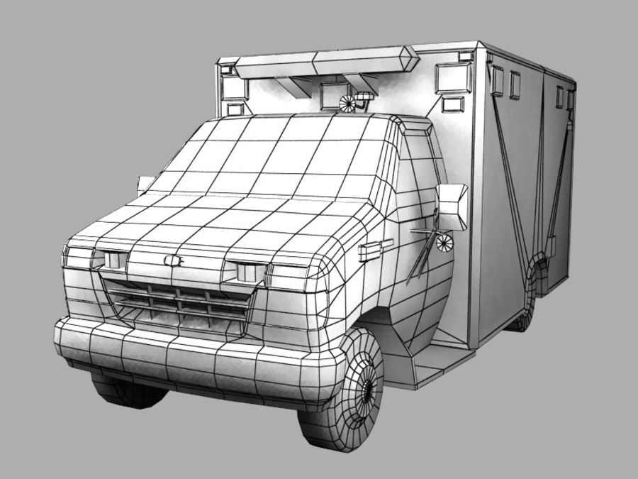 Ambulance royalty-free 3d model - Preview no. 8
