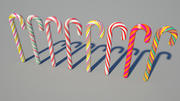 candy cane 05 3d model