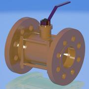 zawór gazu 3d model