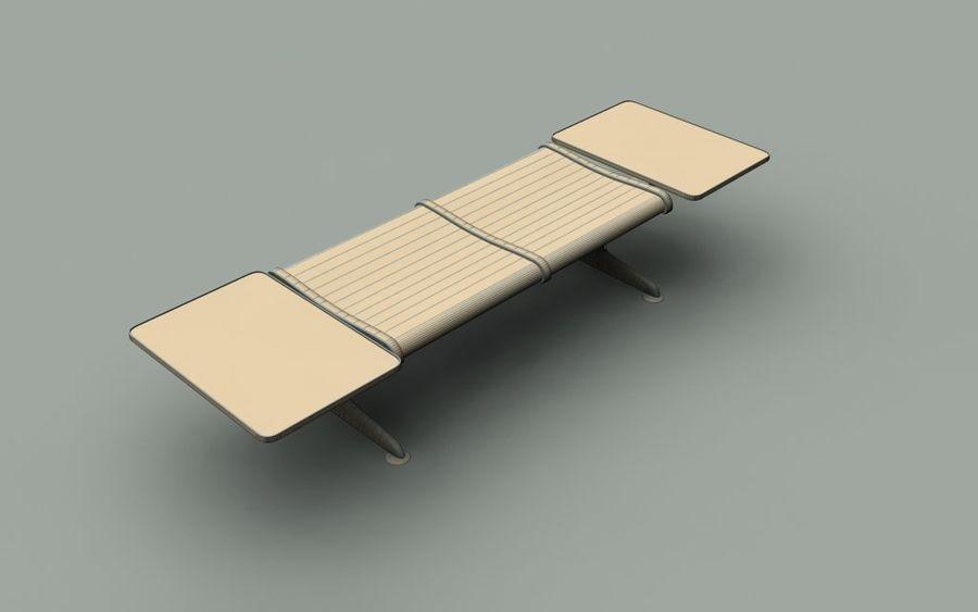 Скамья в аэропорту (двухместный с таблицами) royalty-free 3d model - Preview no. 5
