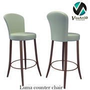 Chaise de tabouret de bar Luma 3d model
