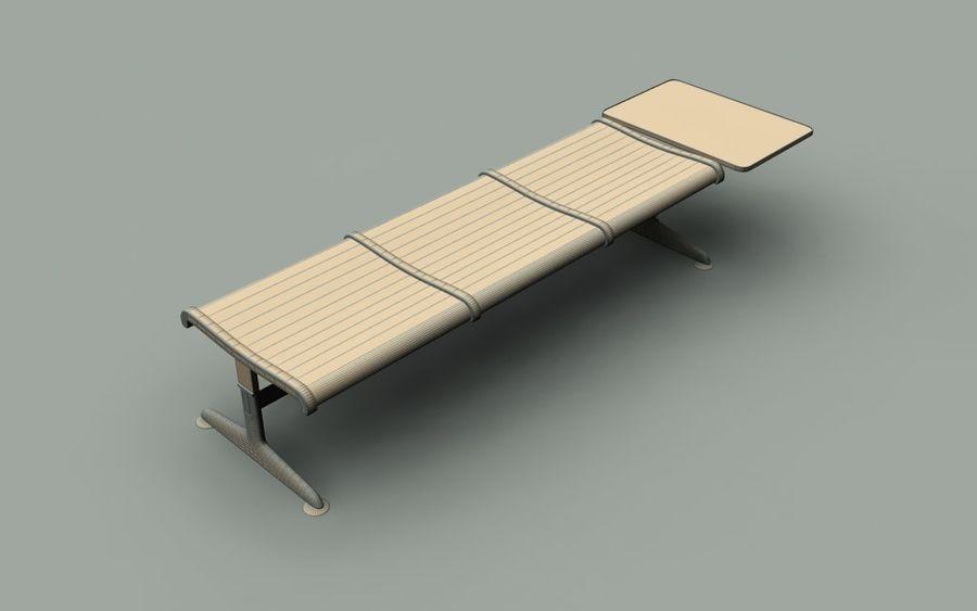 Ławka lotniskowa (potrójna ze stołem) royalty-free 3d model - Preview no. 5