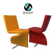 안락 의자 9 트위스트 의자 가구 3d model