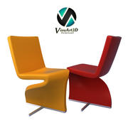 fauteuil 9 Twist Chair Furniture 3d model