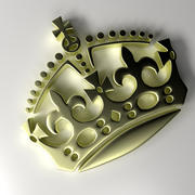 Emblema de la corona modelo 3d