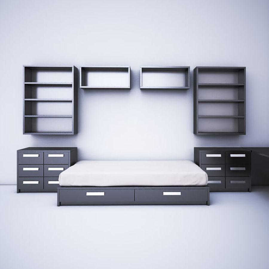 meble dziecięce do sypialni royalty-free 3d model - Preview no. 1