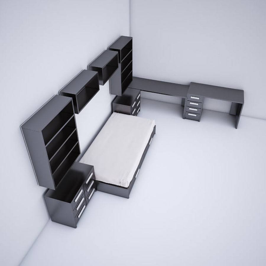 meble dziecięce do sypialni royalty-free 3d model - Preview no. 5