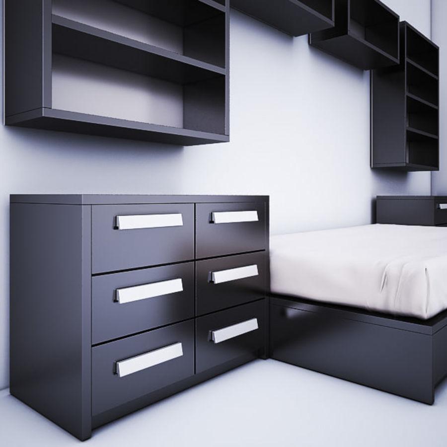 meble dziecięce do sypialni royalty-free 3d model - Preview no. 3