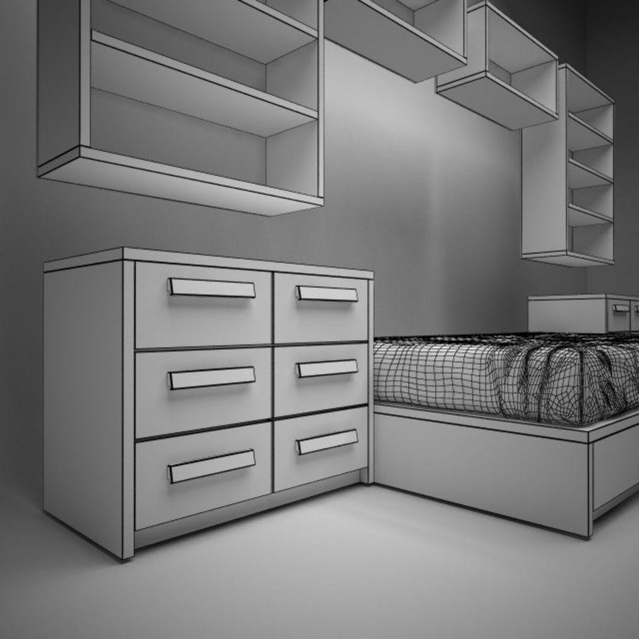 meble dziecięce do sypialni royalty-free 3d model - Preview no. 6