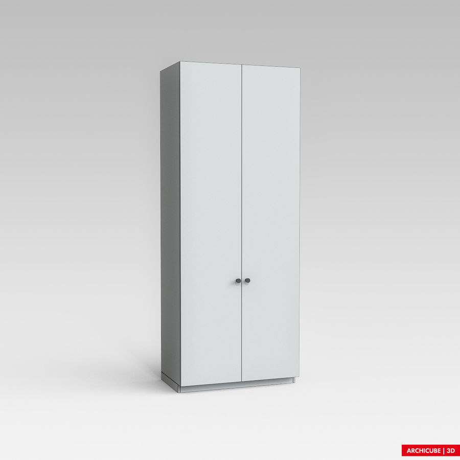 Dresser Cabinet royalty-free 3d model - Preview no. 6