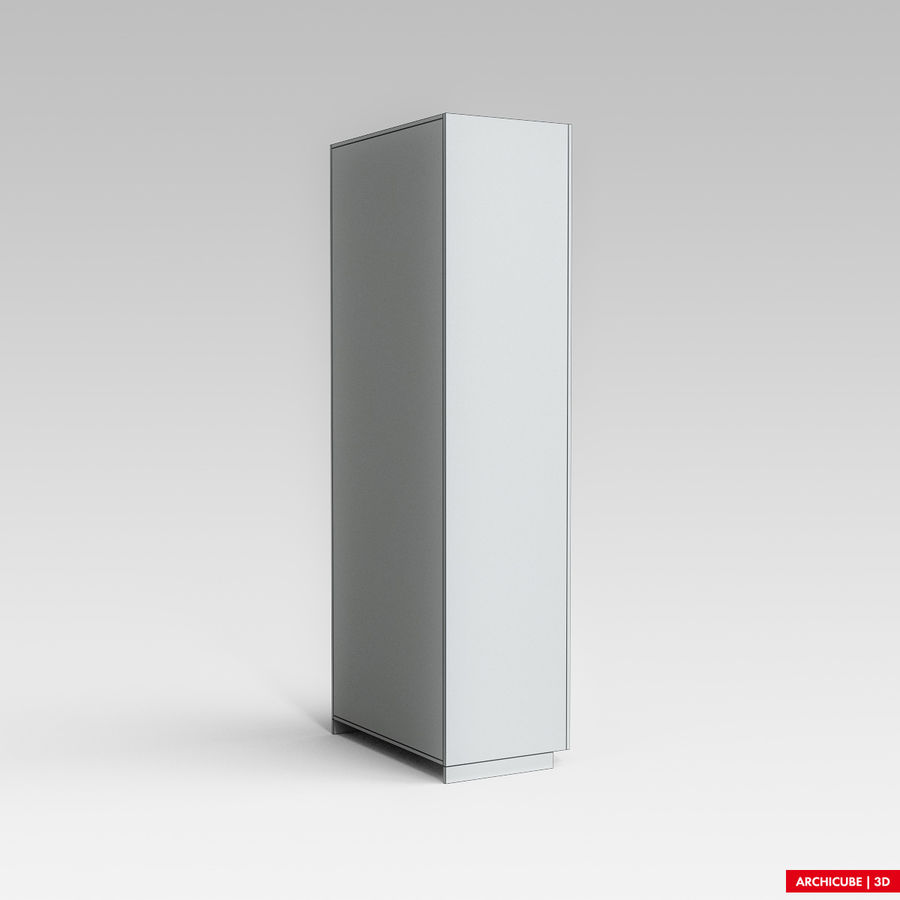 Dresser Cabinet royalty-free 3d model - Preview no. 9