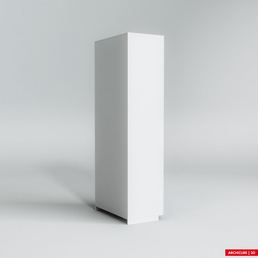 Dresser Cabinet royalty-free 3d model - Preview no. 4