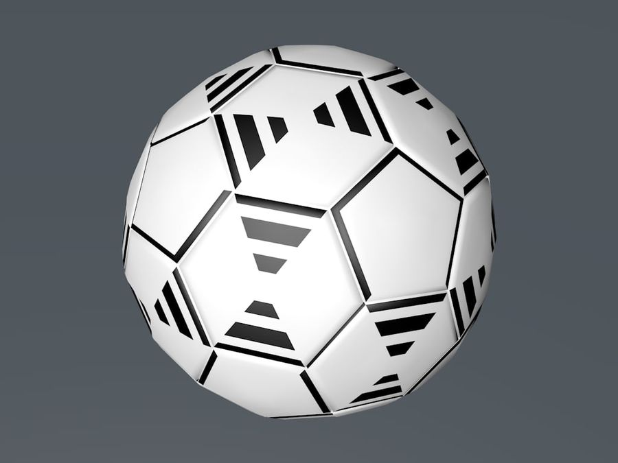 Football - Soccer ball royalty-free 3d model - Preview no. 4