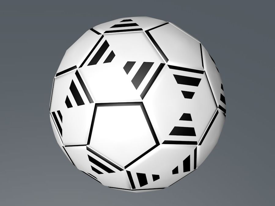 Football - Soccer ball royalty-free 3d model - Preview no. 3