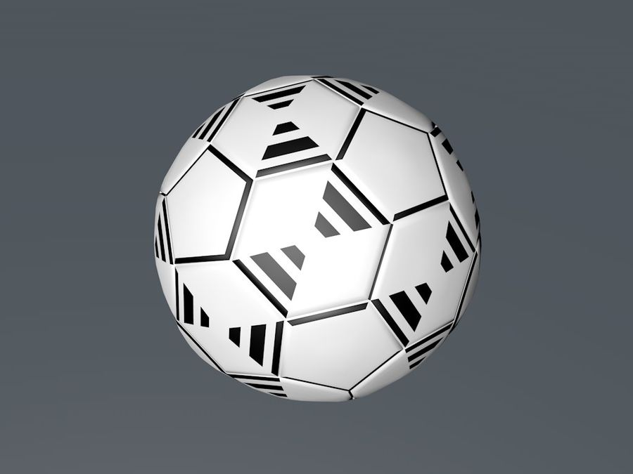 Football - Soccer ball royalty-free 3d model - Preview no. 1