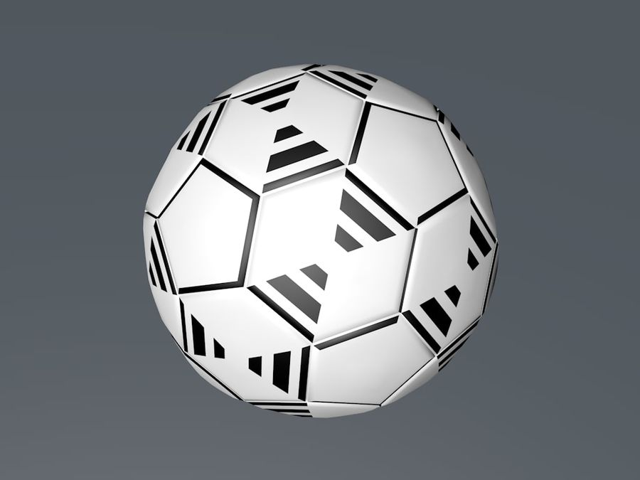 Football - Soccer ball royalty-free 3d model - Preview no. 2