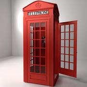 Cabine de telefone vermelha 3d model