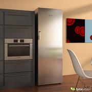 博世立式冰箱 3d model
