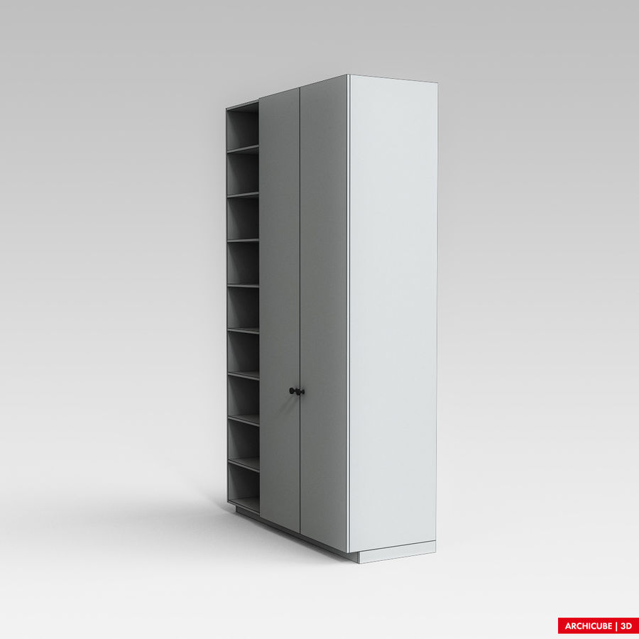 Dresser Cabinet royalty-free 3d model - Preview no. 7
